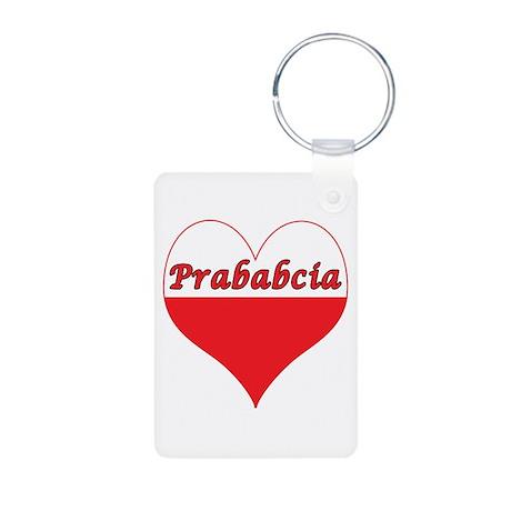 Prababcia Polish Heart Aluminum Photo Keychain