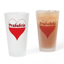 Prababcia Polish Heart Drinking Glass