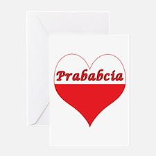 Prababcia Polish Heart Greeting Card