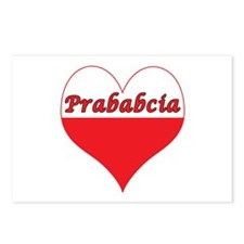 Prababcia Polish Heart Postcards (Package of 8)