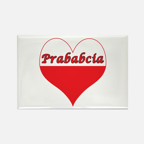 Prababcia Polish Heart Rectangle Magnet