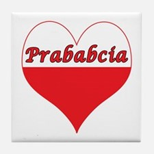 Prababcia Polish Heart Tile Coaster