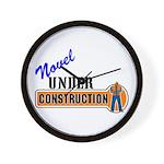 Novel Under Construction Wall Clock
