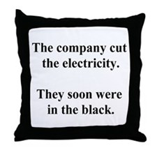 electricity joke Throw Pillow