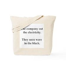 electricity joke Tote Bag