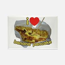 I Heart (Love) Banana Pancake Rectangle Magnet