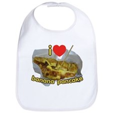 I Heart (Love) Banana Pancake Bib