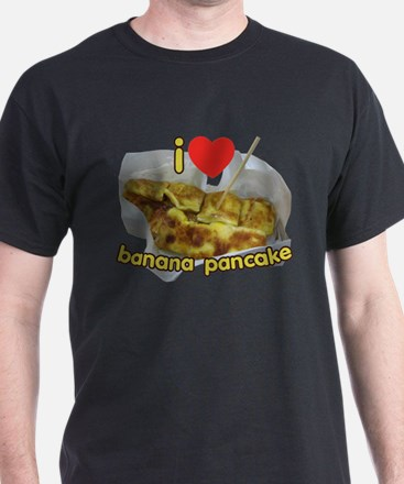 I Heart (Love) Banana Pancake T-Shirt