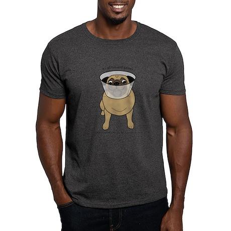 Conehead Fawn Pug Dark T-Shirt
