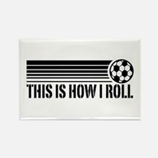 Soccer Rectangle Magnet