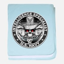 USN Intelligence Specialist S baby blanket