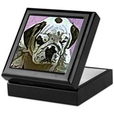 English Bulldog Art Keepsake Box