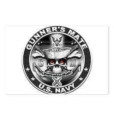 USN Gunners Mate GM Skull Don Postcards (Package o