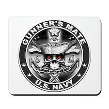 USN Gunners Mate GM Skull Don Mousepad