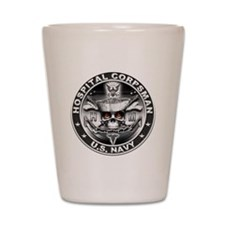 USN Hospital Corpsman Skull H Shot Glass