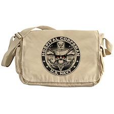 USN Hospital Corpsman Skull H Messenger Bag