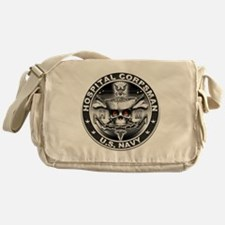 USN Hospital Corpsman Skull H Messenger Bag