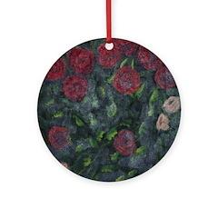 Autumn Roses Ornament (Round)