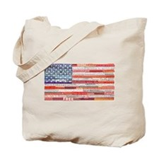 American Flag Collage Tote Bag
