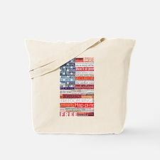 America Water Bottle Tote Bag