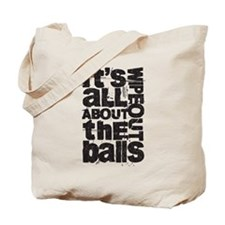 All About the Balls Blk Tote Bag