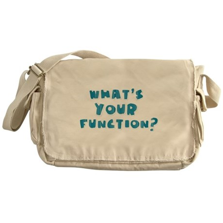 Whats Your Function Blue Messenger Bag