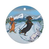 Terry pond dachshund christmas Ornaments
