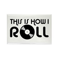 This Is How I Roll Vinyl Rectangle Magnet