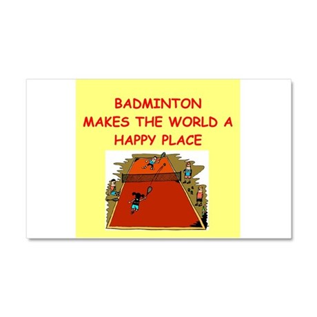 badminton Car Magnet 20 x 12
