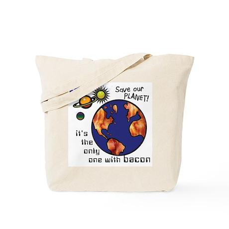 Bacon-Environmentalist Tote Bag