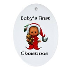 Baby's First Christmas Ornament (Oval)