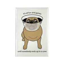 Conehead Fawn Pug Rectangle Magnet