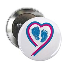Footprint Ribbon Button
