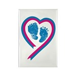 Footprint Ribbon Rectangle Magnet (10 pack)