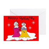 Lesbian christmas Greeting Cards
