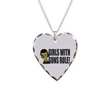 Girls With Guns Rule Necklace