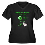 Bowling For Morons Women's Plus Size V-Neck Dark T
