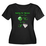 Bowling For Morons Women's Plus Size Scoop Neck Da