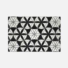 Black and White Pattern Rectangle Magnet