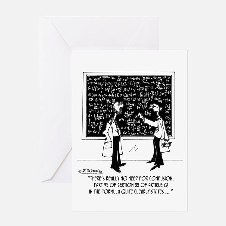 No Need For Confusion Greeting Card