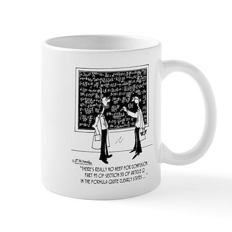 No Need For Confusion Mug