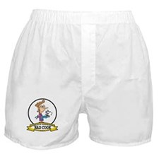 WORLDS GREATEST BAD COOK FEMALE Boxer Shorts