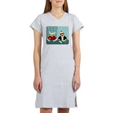 Chihuahua & Sock Monkey Women's Nightshirt