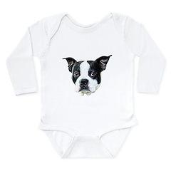 Boston Terrier Long Sleeve Infant Bodysuit