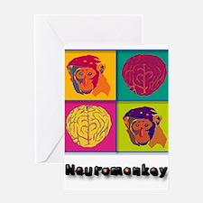 Funny Monkey brain Greeting Card