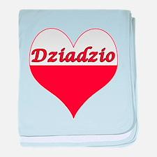 Dziadzio Polish Heart baby blanket