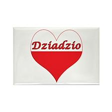 Dziadzio Polish Heart Rectangle Magnet