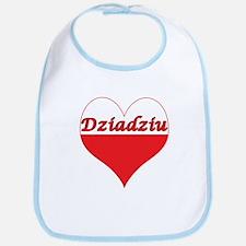 Dziadziu Polish Heart Bib