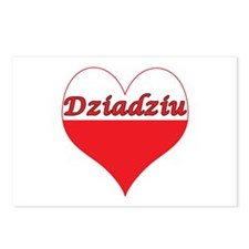 Dziadziu Polish Heart Postcards (Package of 8)