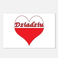 Dziadziu Polish Heart Postcards (Package of 8)